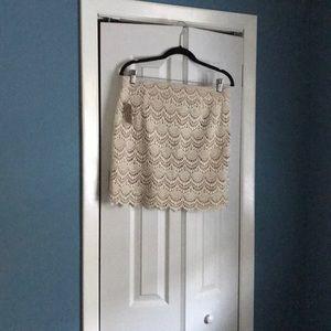 Neutral Vacation Mini Skirt